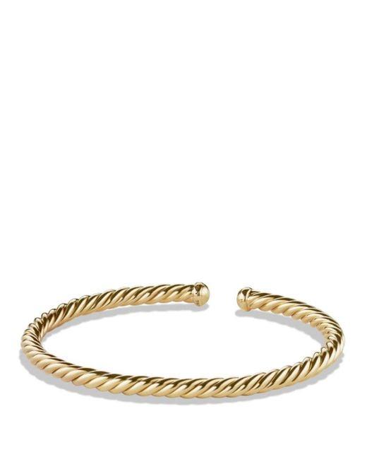 David Yurman - Metallic Precious Cable Cablespira Bracelet In Gold - Lyst