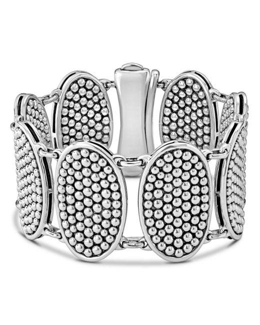 Lagos - Metallic Sterling Silver Bold Caviar Ellipse Link Bracelet - Lyst