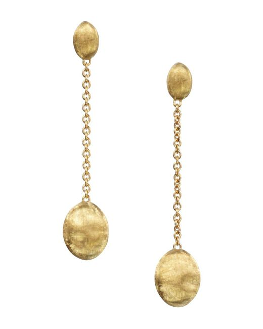 "Marco Bicego | Metallic ""siviglia Collection"" Gold Drop Earrings 