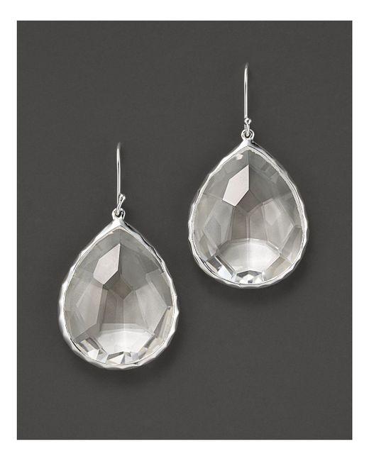 Ippolita | Metallic Sterling Silver Rock Candy Large Teardrop Earrings In Clear Quartz | Lyst