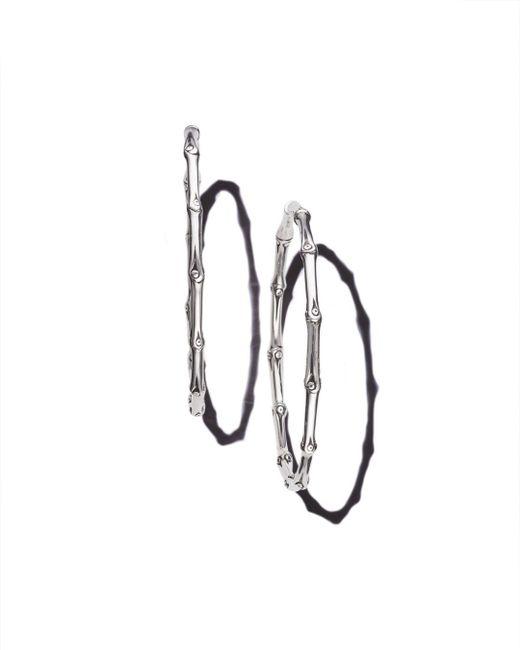 John Hardy - Metallic Bamboo Large Continuous Hoop Earrings - Lyst