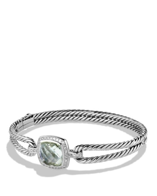 David Yurman - Metallic Albion Bracelet With Prasiolite And Diamonds - Lyst
