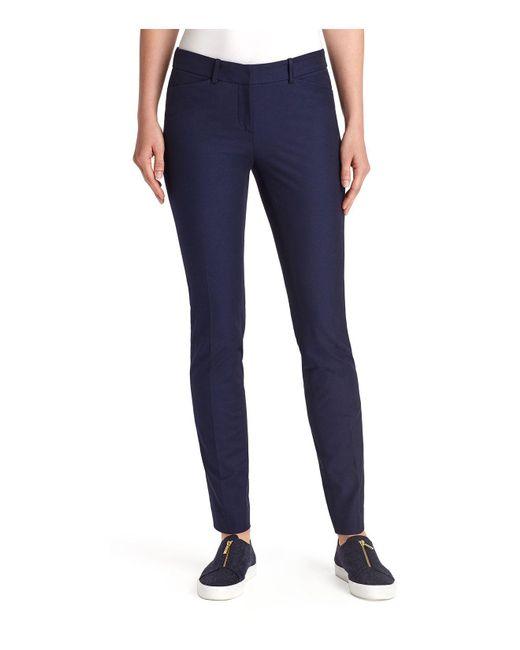 Lafayette 148 New York | Blue Manhattan Skinny Pants | Lyst