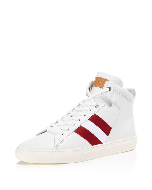 Bally | White Men's Hedern High Top Sneakers for Men | Lyst
