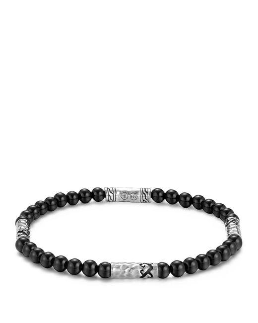 John Hardy - Metallic Men's Classic Chain Hammered Sterling Silver & Onyx Bead Bracelet for Men - Lyst
