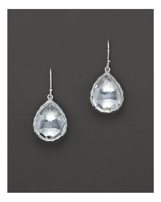 Ippolita | Metallic Sterling Silver Rock Candy Small Teardrop Earrings In Clear Quartz | Lyst