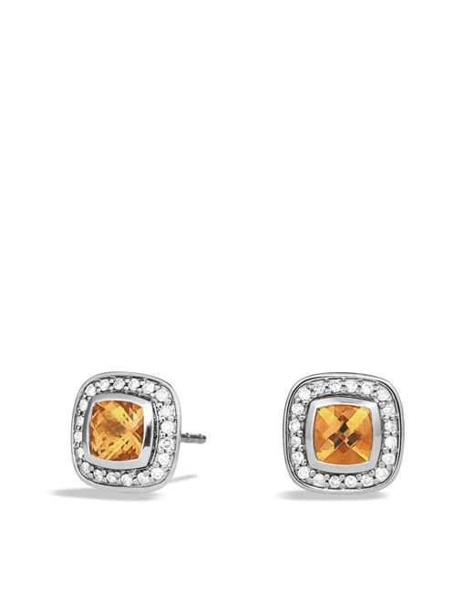 David Yurman | Orange Petite Albion Earrings With Citrine And Diamonds | Lyst