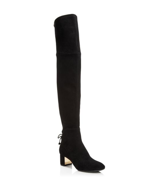 Tory Burch | Black Women's Laila Suede Over-the-knee Boots | Lyst