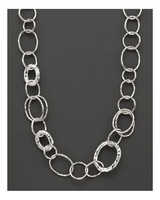 "Ippolita | Metallic Sterling Silver Short Necklace With ""bastille"" Links | Lyst"