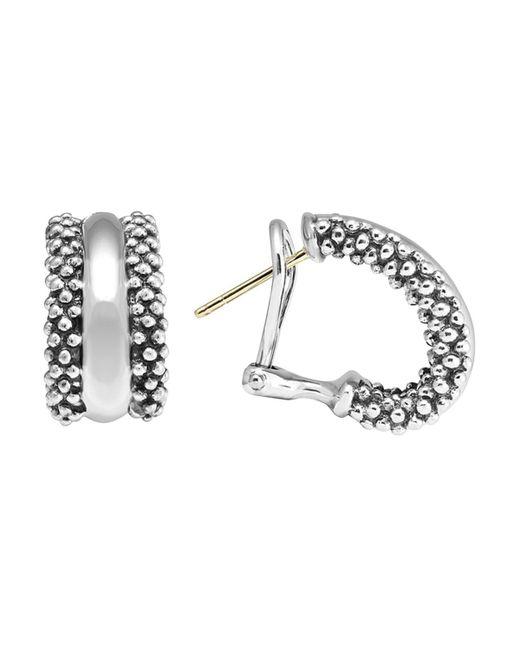 Lagos | Metallic Caviar Hoop Earrings In Sterling Silver | Lyst