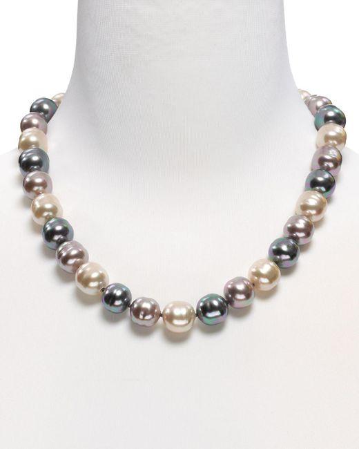 "Majorica | Multicolor Baroque Simulated Pearl Necklace, 20"" | Lyst"