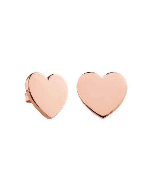 Tous - Pink Heart Stud Earrings - Lyst