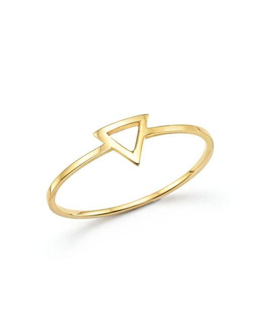 Mateo - Metallic 14k Yellow Gold Triangle Ring - Lyst
