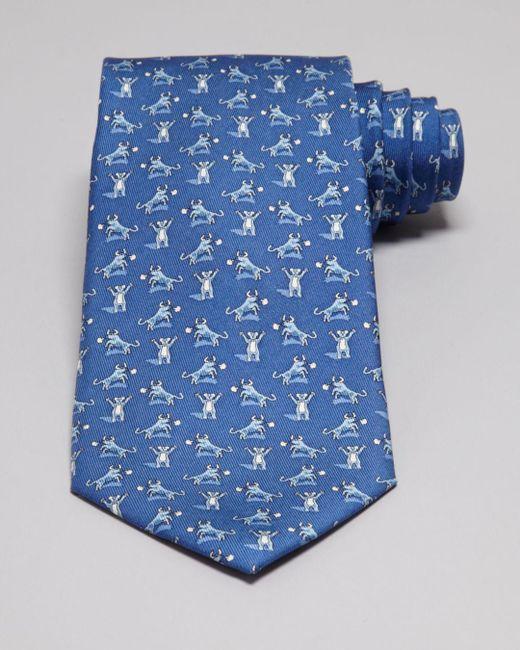 Vineyard Vines - Blue Bull And Bear Tie for Men - Lyst