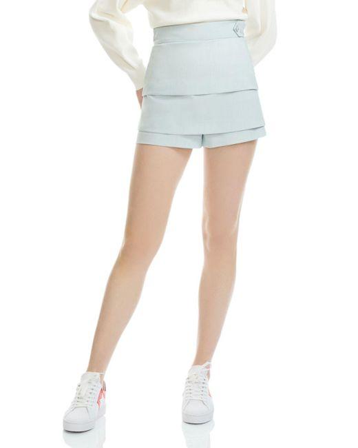 Maje - Blue Isalia Tiered Mini Shorts - Lyst