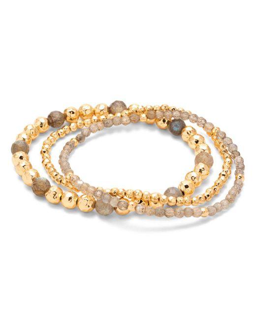 Gorjana - Metallic Gypset Beaded Stretch Bracelets - Lyst