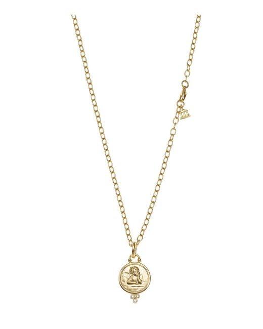 Temple St. Clair | Metallic 18k Yellow Gold Angel Pendant With Diamonds | Lyst
