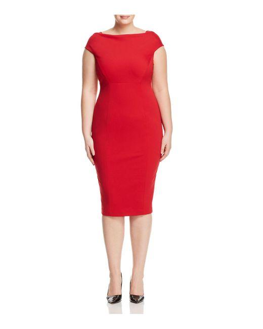 Marina Rinaldi - Red Doryshapely Midi Pencil Dress - Lyst