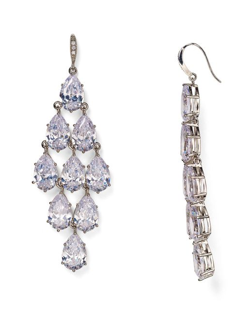 Carolee | Metallic Pavé Kite Chandelier Earrings | Lyst