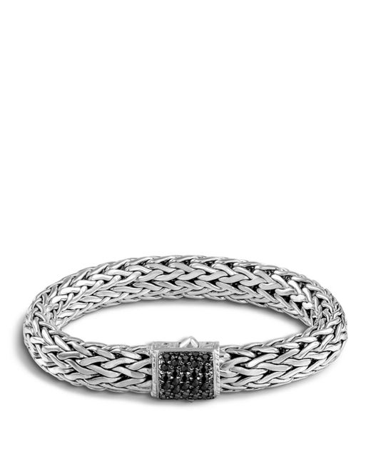 John Hardy - Metallic Classic Chain Sterling Silver Lava Large Bracelet With Black Sapphire - Lyst
