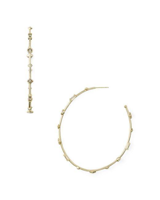 Kendra Scott - Metallic Zella Crystal Hoop Earrings - Lyst
