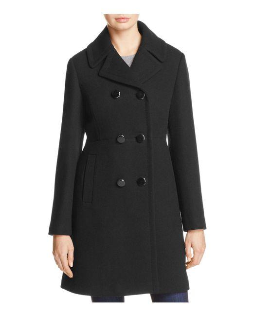 Kate Spade | Black Double-breasted Coat | Lyst