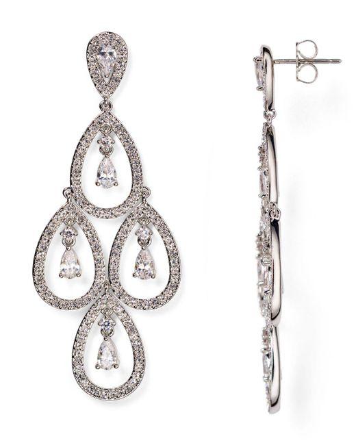 Nadri - Metallic Kite Chandelier Earrings - Lyst