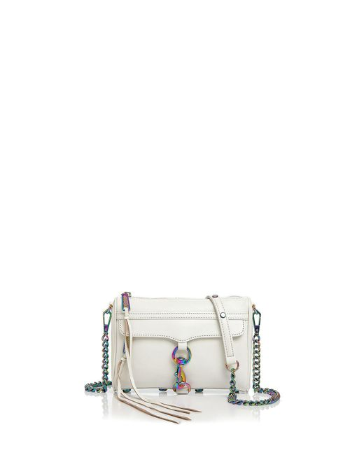 Rebecca Minkoff | White Mini Mac Leather Crossbody | Lyst