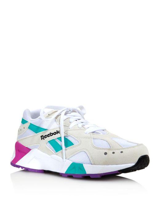 9885e7c0207 Reebok Women s Aztrek Low-top Sneakers in White - Save 51% - Lyst