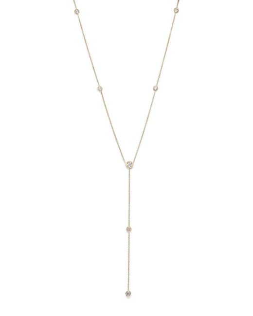 Bloomingdale's - Metallic Diamond Station Y Necklace In 14k Yellow Gold, .75 Ct. T.w. - Lyst