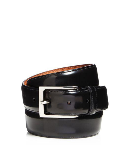 Trafalgar - Black Vincenzo Shiny Tuxedo Belt for Men - Lyst