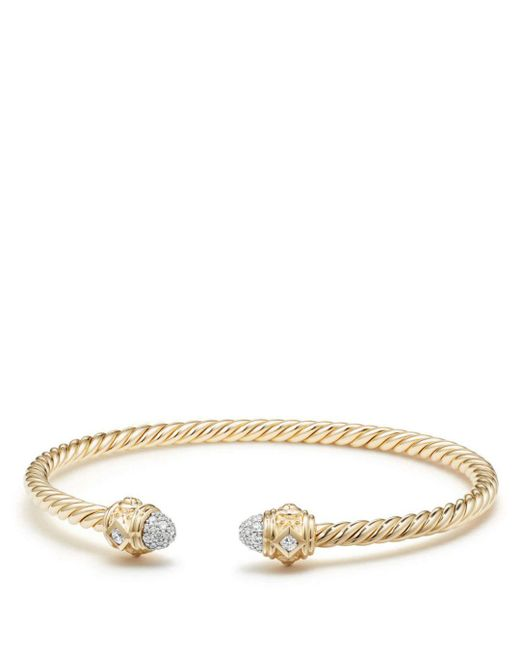 David Yurman - Metallic Renaissance Bracelet With Diamonds In 18k Gold - Lyst