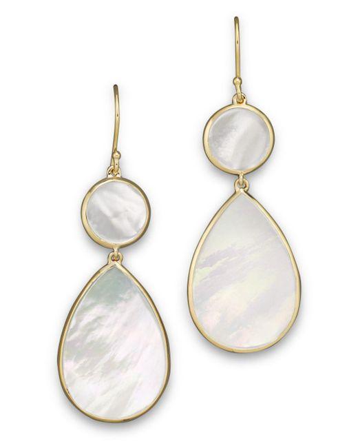 Ippolita - Metallic 18k Gold Polished Rock Candy 2 Drop Earrings In Mother-of-pearl - Lyst