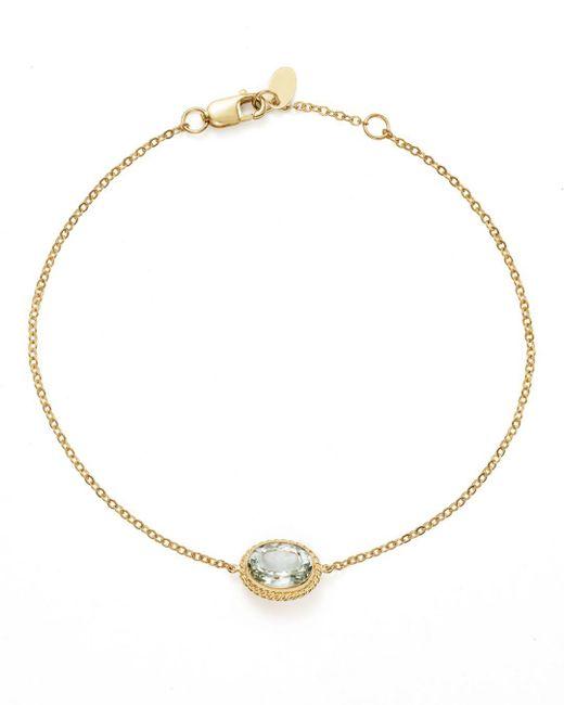 Bloomingdale's - Metallic Prasiolite Oval Pendant Bracelet In 14k Yellow Gold - Lyst