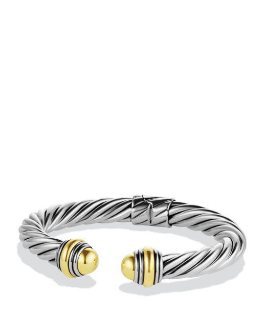 David Yurman - Metallic Cable Classics Bracelet With Gold Domes - Lyst