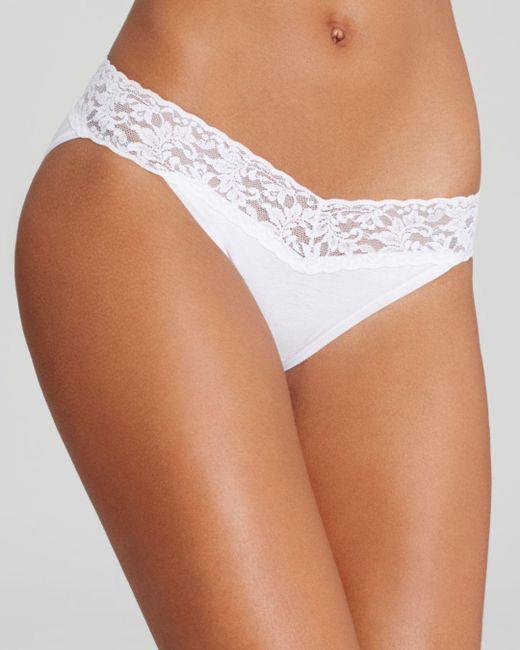 Hanky Panky - White Lace Cotton V-kini - Lyst