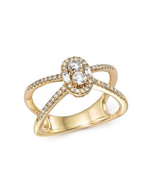 Bloomingdale's - Metallic Diamond Cluster X Ring In 14k Yellow Gold, .50 Ct. T.w. - Lyst