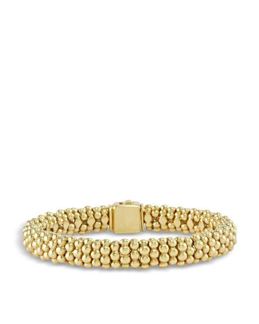 Lagos - Metallic 18k Gold Beaded Bracelet - Lyst