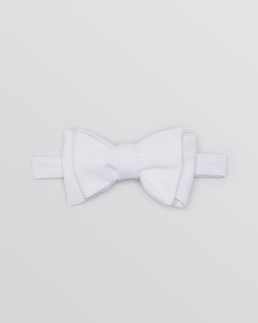 Turnbull & Asser - White Textured Cotton Bow Tie for Men - Lyst