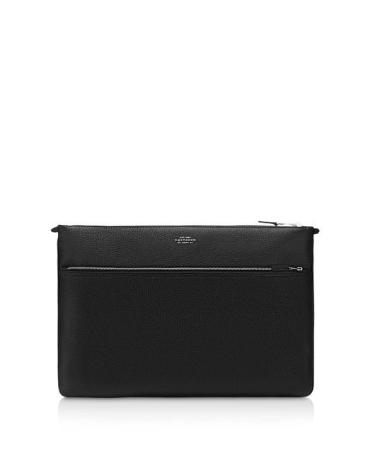 Smythson | Black Leather Document Portfolio for Men | Lyst