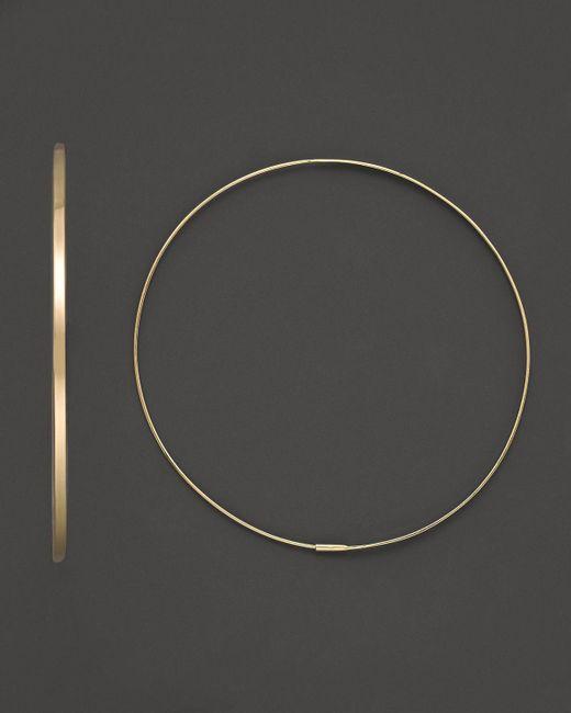 Lana Jewelry | Metallic 14k Yellow Gold Large Flat Magic Hoop Earrings | Lyst