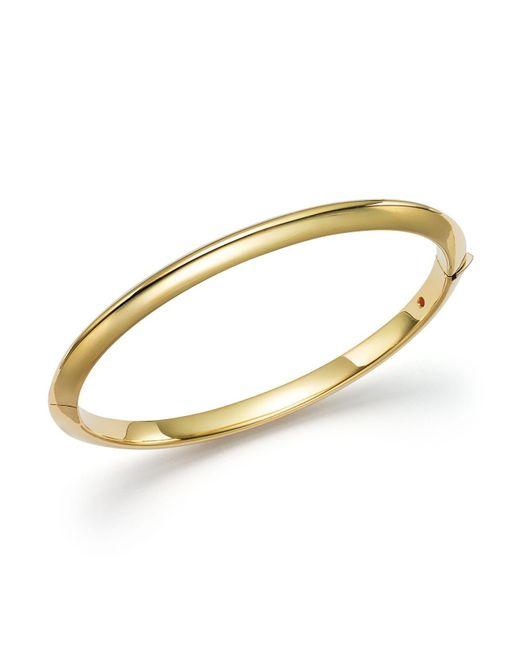 Roberto Coin   Metallic 18k Yellow Gold Bangle Bracelet   Lyst