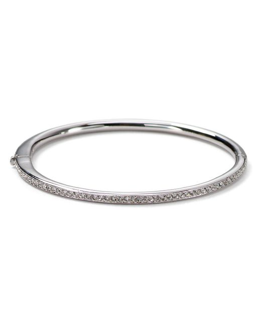 Nadri | Metallic Single Row Bangle | Lyst