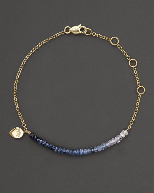 Meira T | Metallic Blue Sapphire And 14k Yellow Gold Bracelet | Lyst