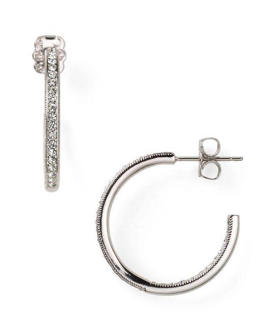 Nadri - Metallic In Out Hoop Earrings - Lyst
