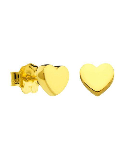 Tous - Metallic 18k Gold Mini Heart Stud Earrings - Lyst