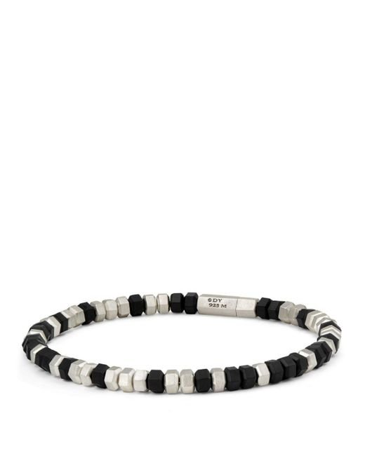 David Yurman - Hexagon Bead Bracelet In Black for Men - Lyst