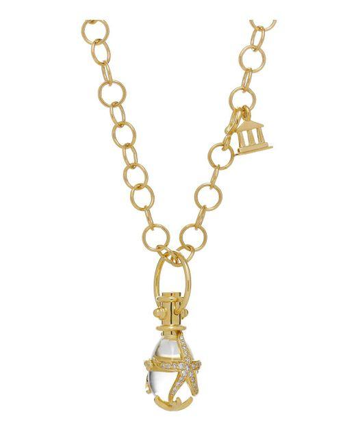 Temple St. Clair | Metallic 18k Yellow Gold Diamond Pavé Starfish Amulet | Lyst