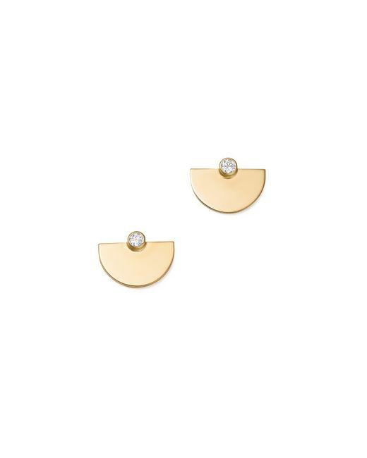 Zoe Chicco | Metallic 14k Yellow Gold Horizon Diamond Earrings | Lyst