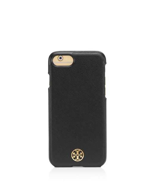 Tory Burch | Black Robinson Hardshell Saffiano Leather Iphone 7 Case | Lyst